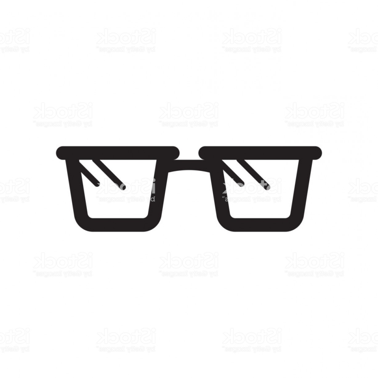 Reading Glasses For Men Vector: Reading Glasses Icon Isolated On White Background Gm