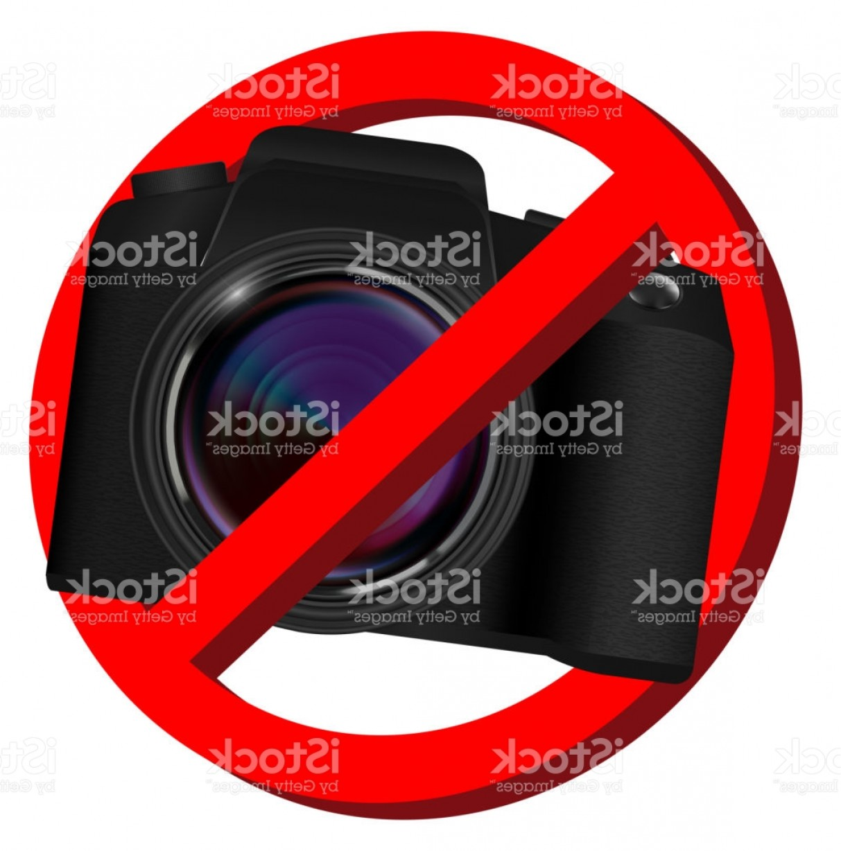 SLR Camera Vector: Real Dslr Camera Vector On A White Background Gm