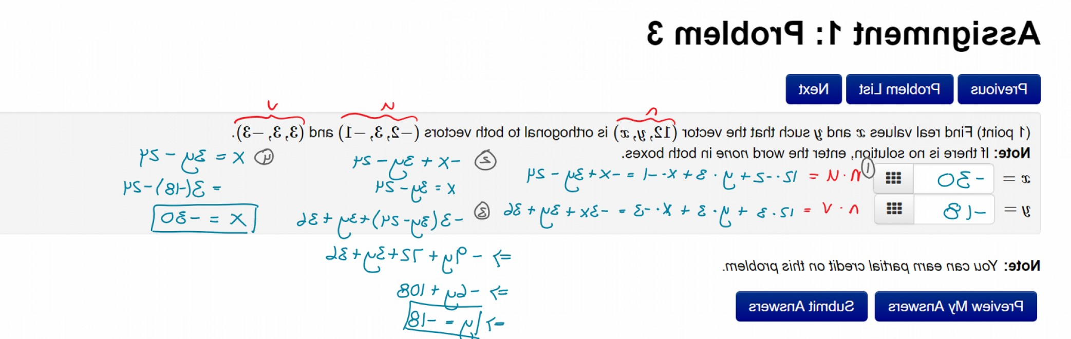 Unit Vectors Orhogonal: Real Values X And Y Such That A Vector Is Orthogonal To Other Vectors