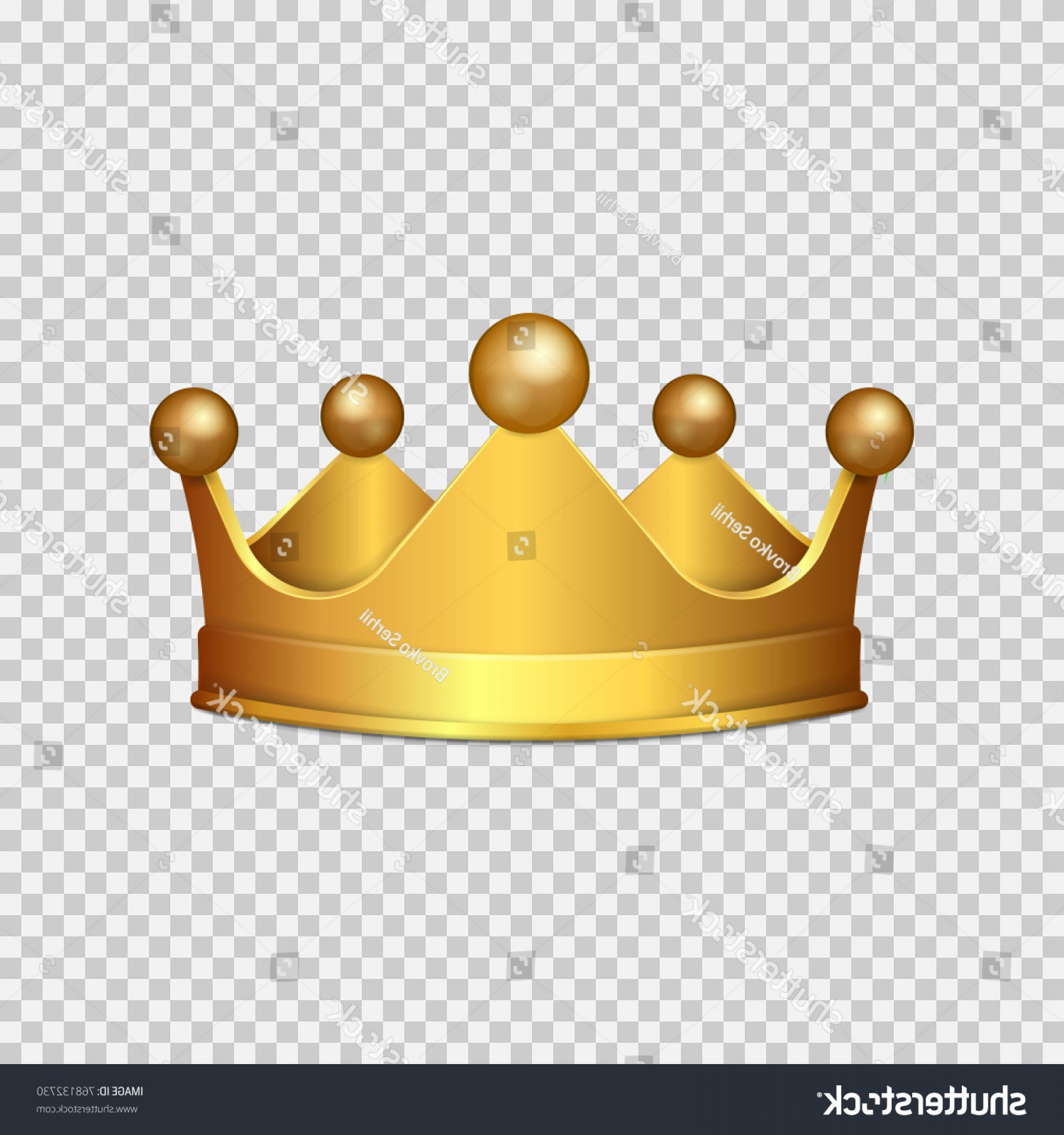 Transparent Queen Crown Vector: Realistic D Gold Crown Isolated On