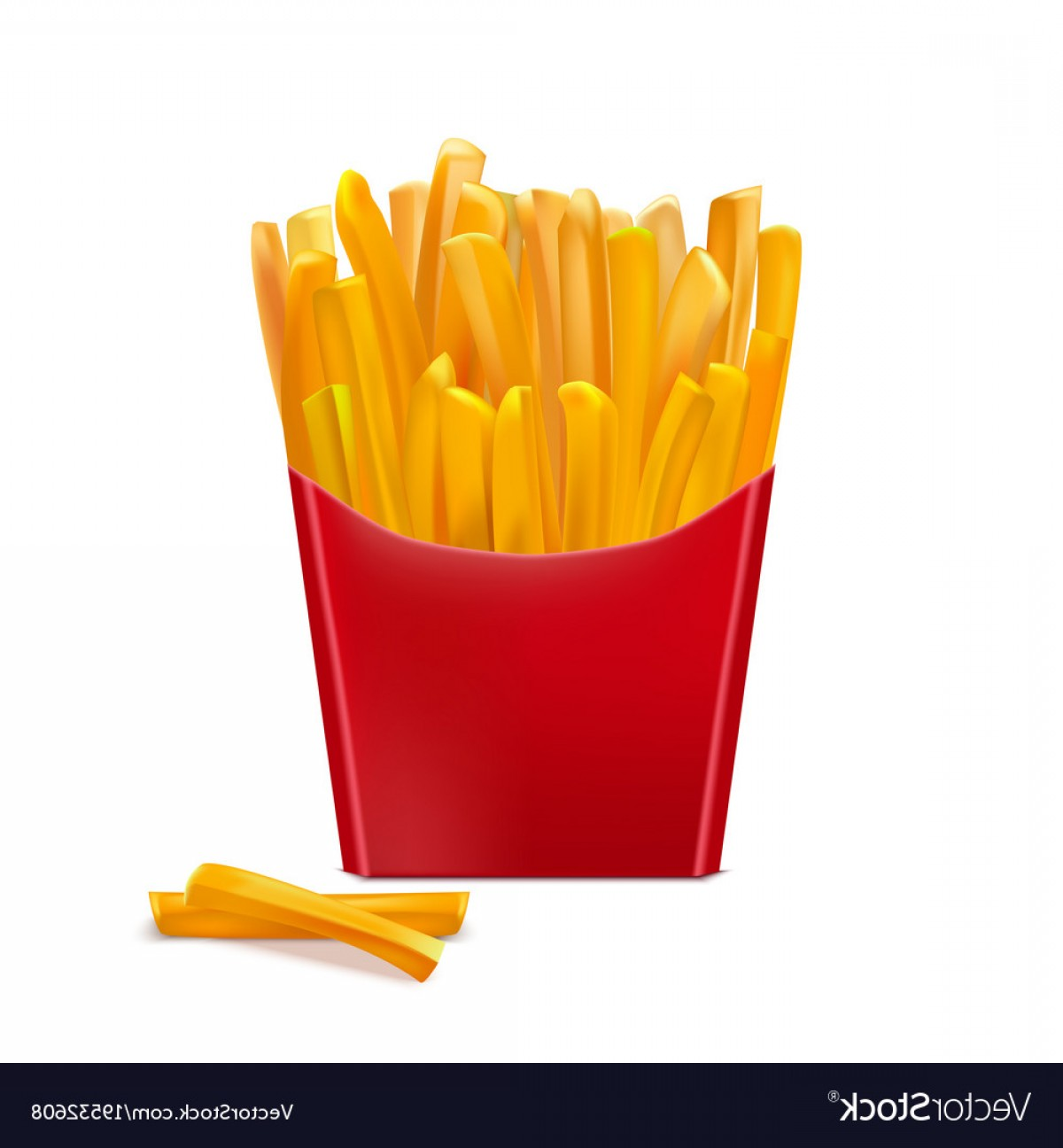 Fries Vector: Realistic Detailed D French Fries Vector