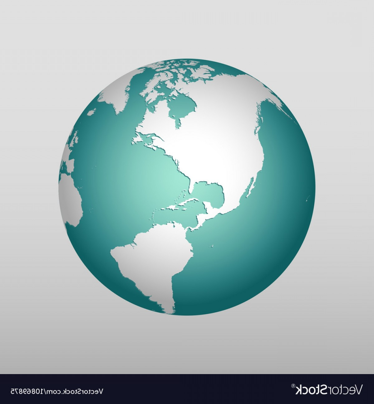 One Color Simple Vector Globe: Realistic Earth Icon In Different Colors Vector
