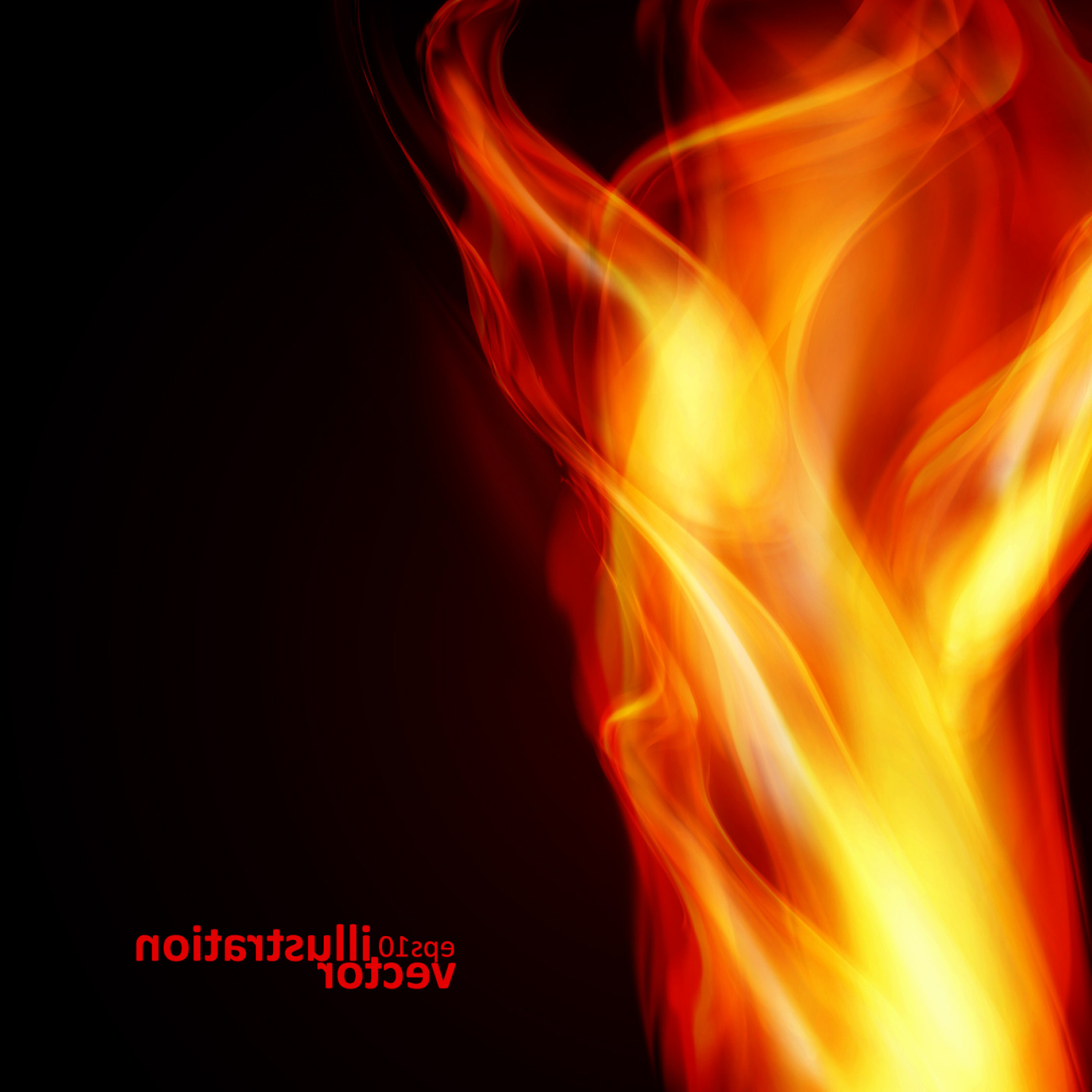 Free Vector Backgrounds Illustrator Free Download: Realistic Fiery Background Illustration Vector