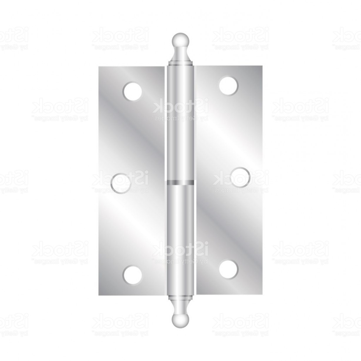 Vector Hinge Western: Realistic Hinges Stainless Steel Icon Vector Illustration Gm