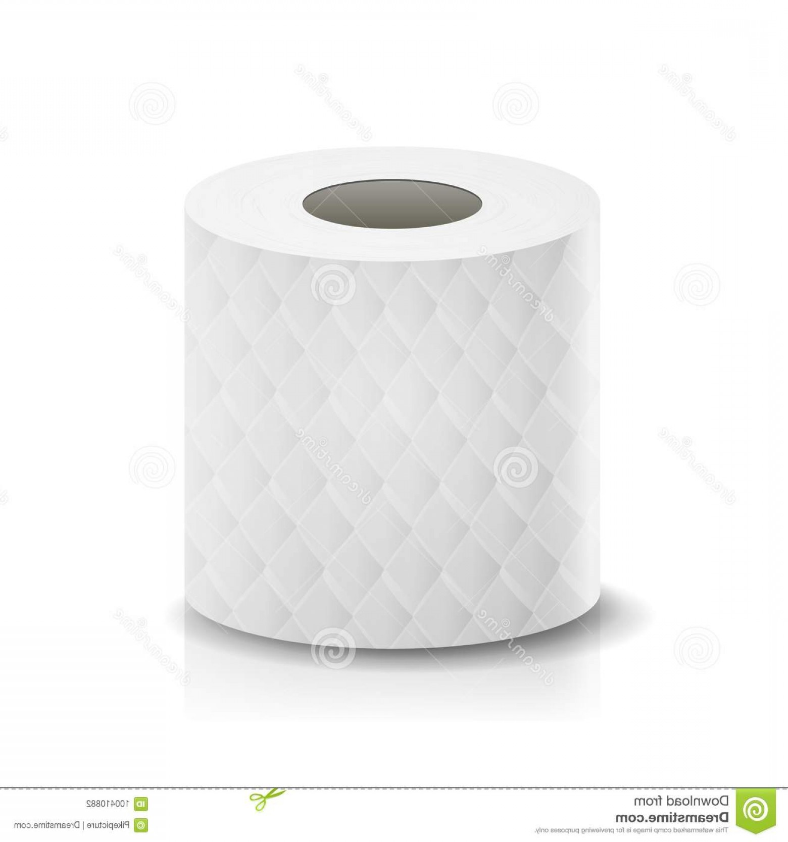 Toilet Paper Vector: Realistic Paper Roll Vector Template Blank White Toilet Paper Roll Mock Up Cash Register Tape Thermal Fax Roll Template Isolated Image