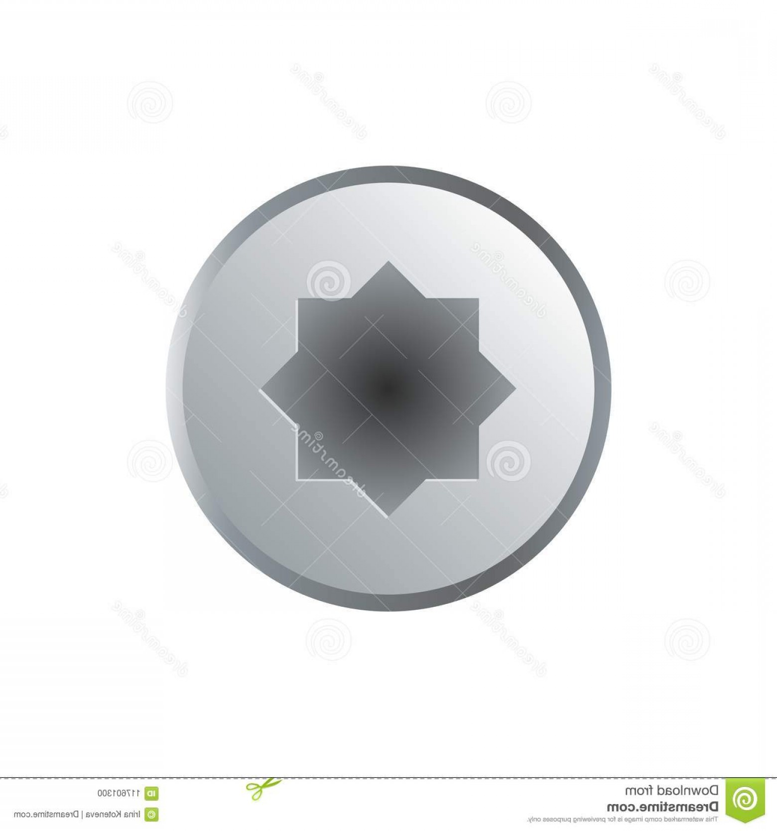 Bolt Head Vectors Gray: Realistic Socket Bolt Head Isolated White Realistic Socket Bolt Head Isolated White Background Construction Hardware Vector Image