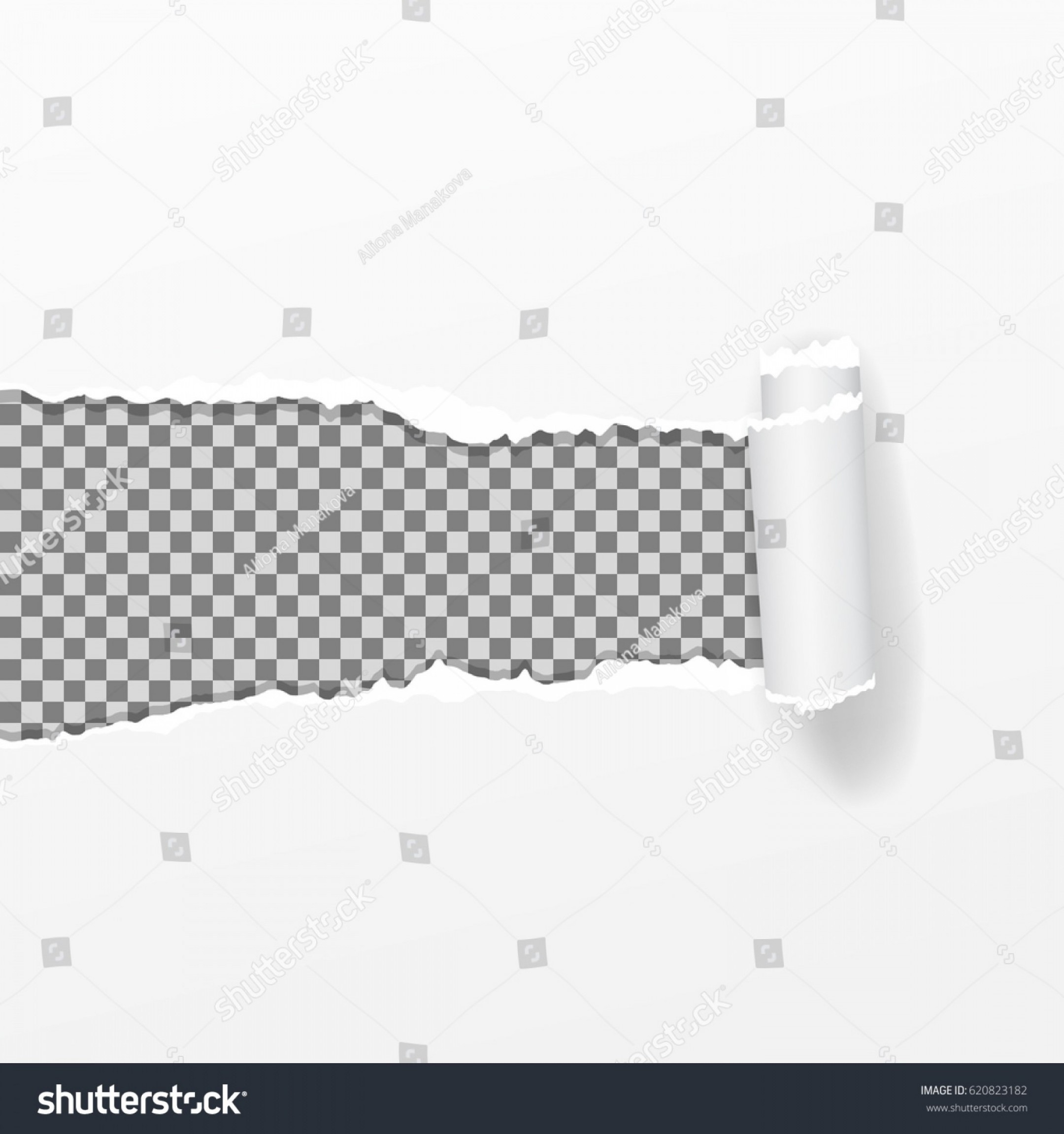 Ripped Black And White Vector: Realistic Vector Torn Paper Ripped Edges