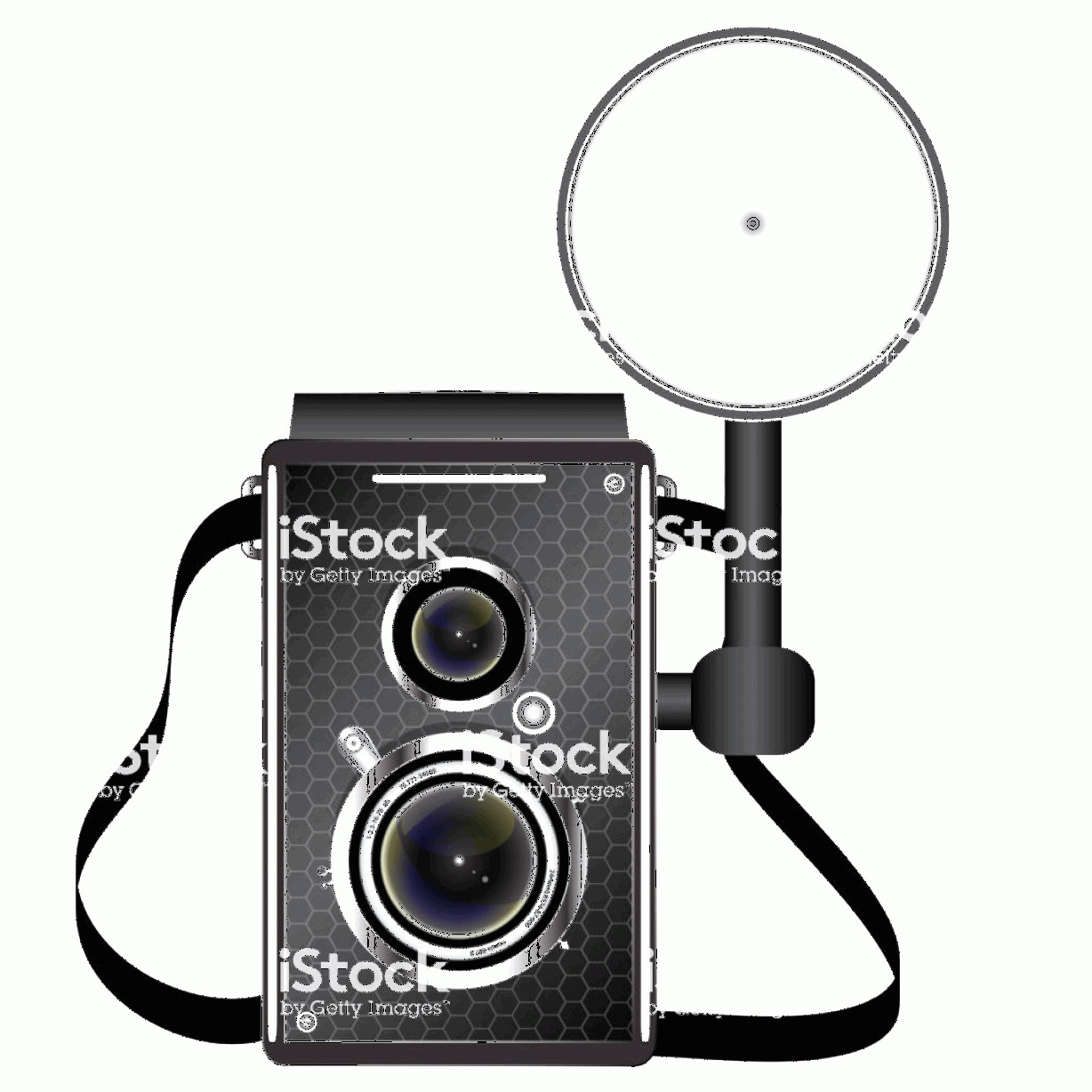 Classic Camera Vector: Realistic Vintage Photo Camera Vector Illustration On A White Background Gm