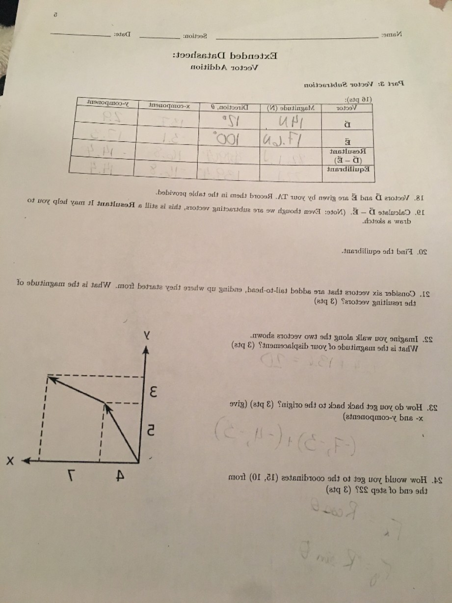 Subtracting Vectors BA: Really Want Make Sure Right Don T Think Send Help Wrote Given Class Q