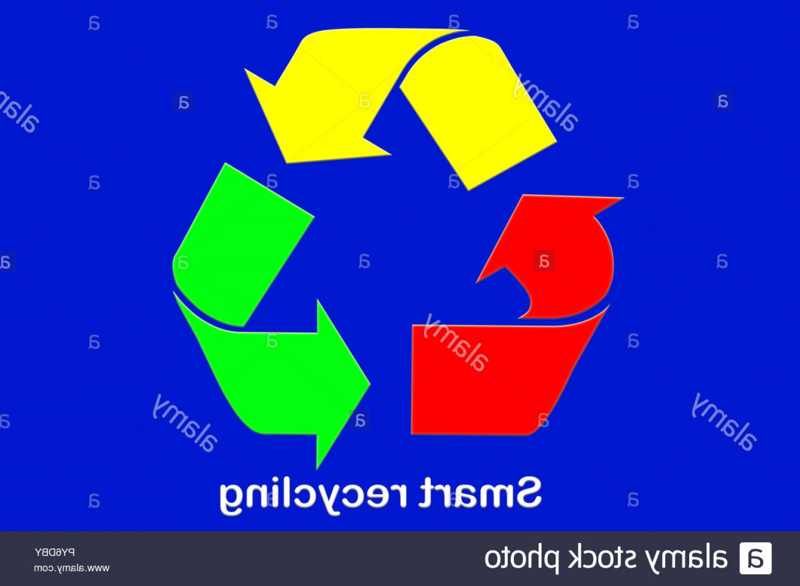 Recycle Icon Vector Red: Recycle Icon Vector Colored On Green Yellow And Red Color Blue Background Image