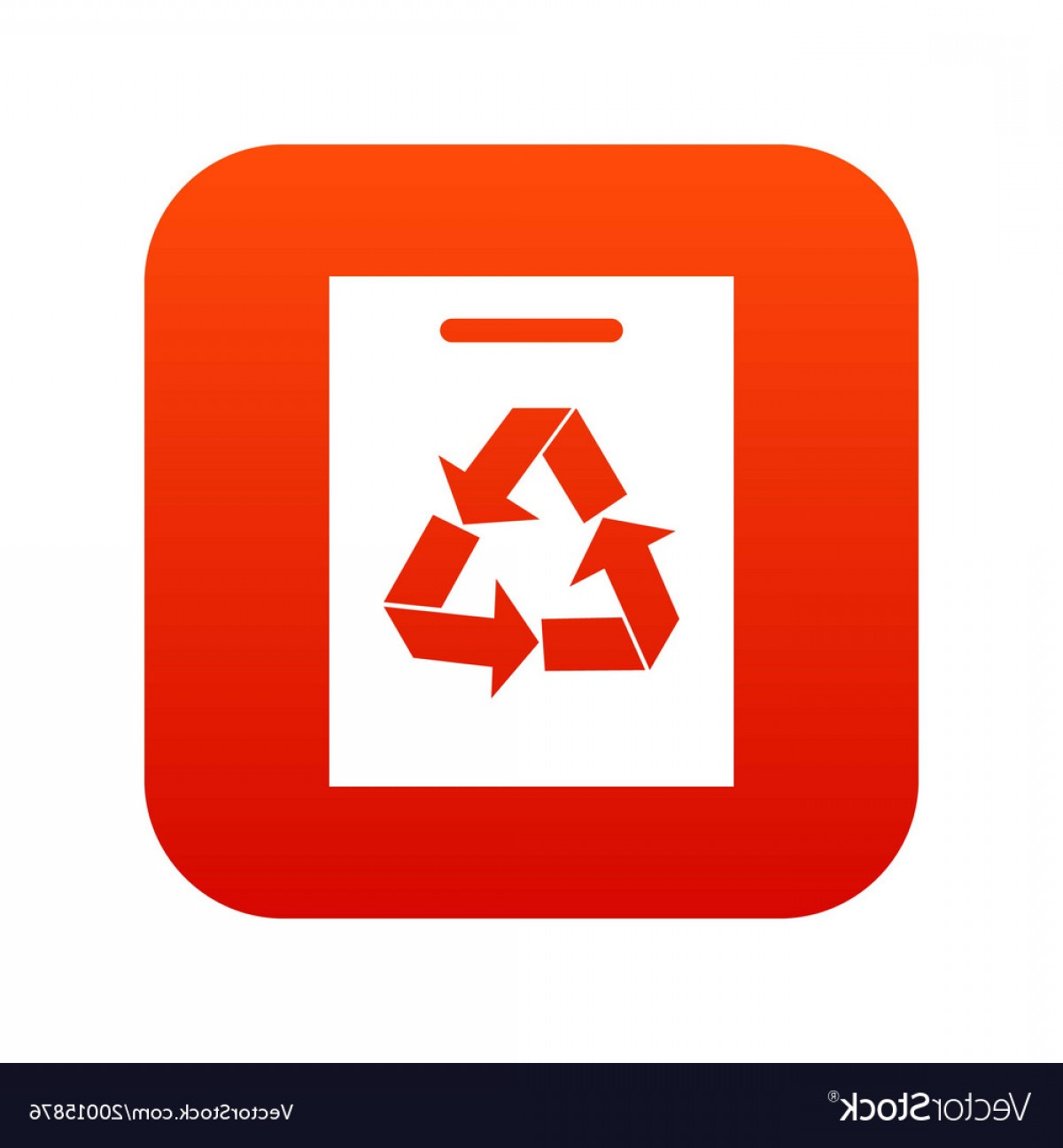 Recycle Icon Vector Red: Recycling Icon Digital Red Vector