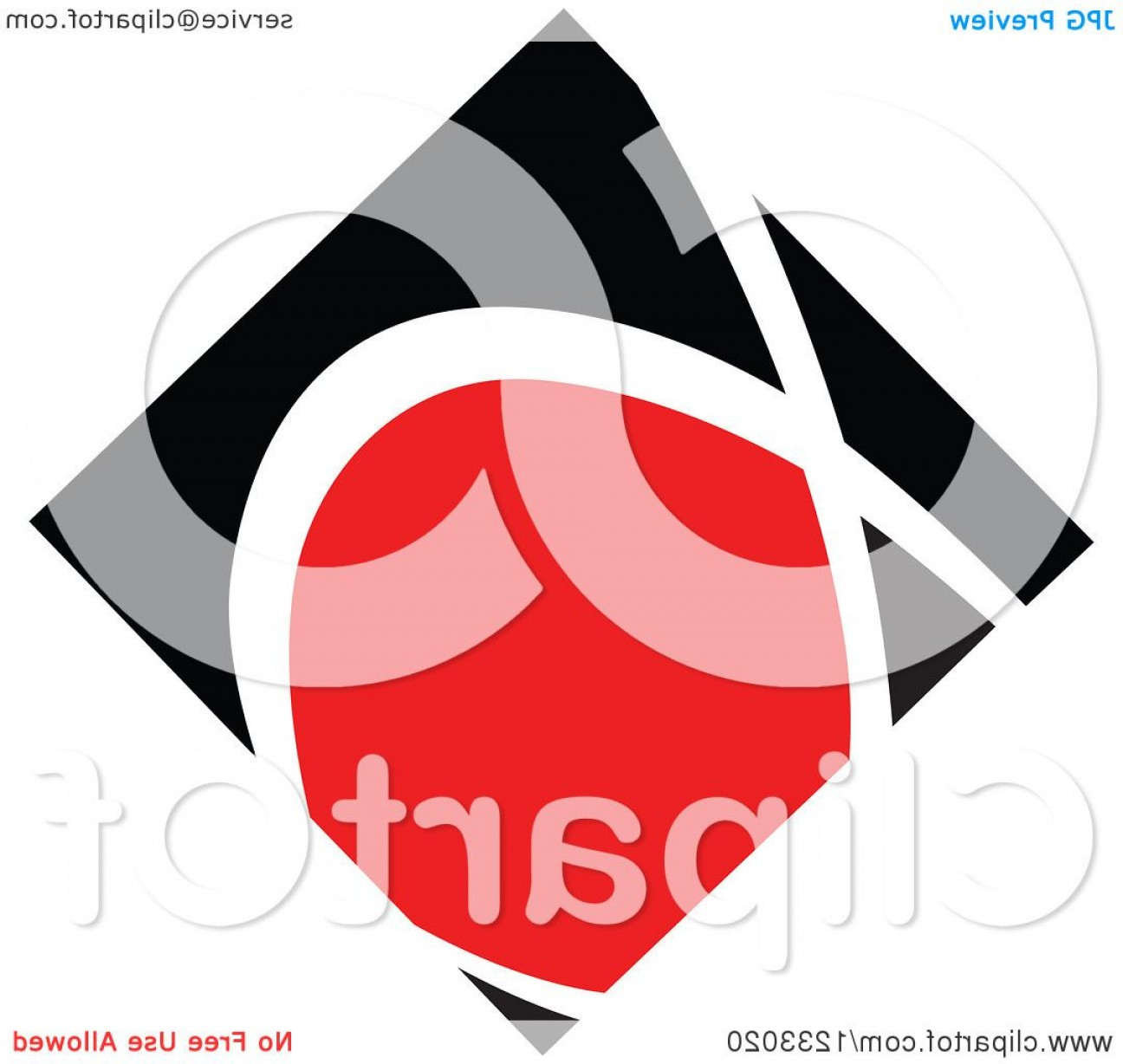 Black Diamond Vector Clip Art: Red And Black Diamond Logo