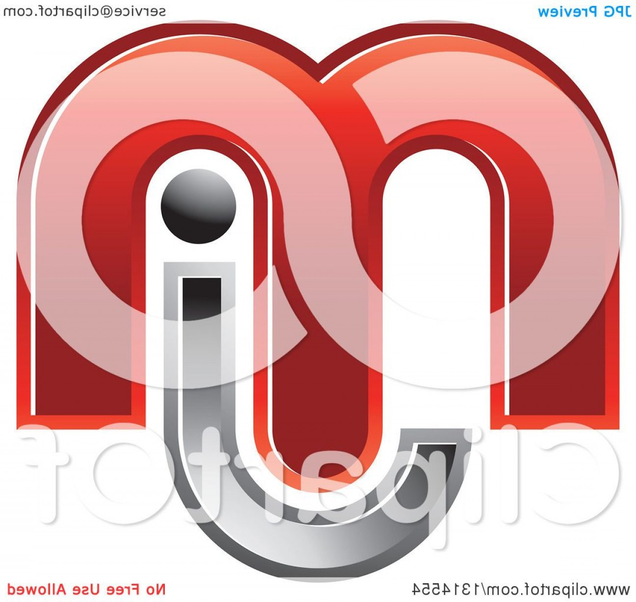 Love M J Vector: Red And Silver Abstract Letter M J Design