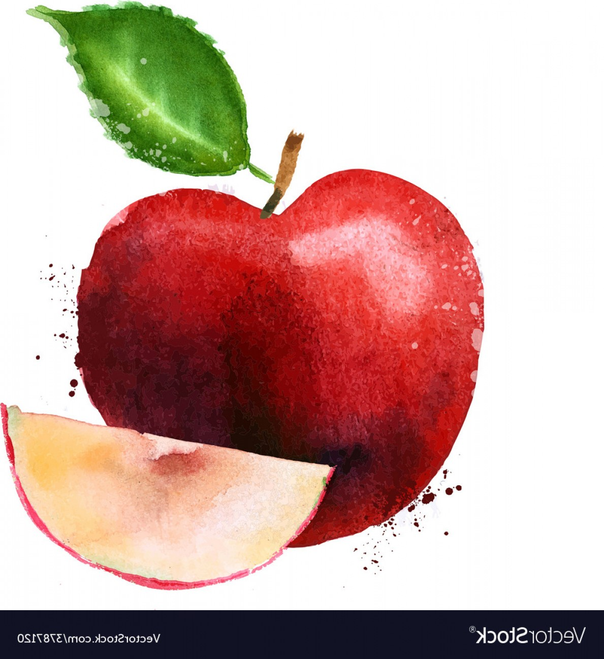 Red Apple Vector Logo: Red Apple Logo Design Template Fruit Or Vector