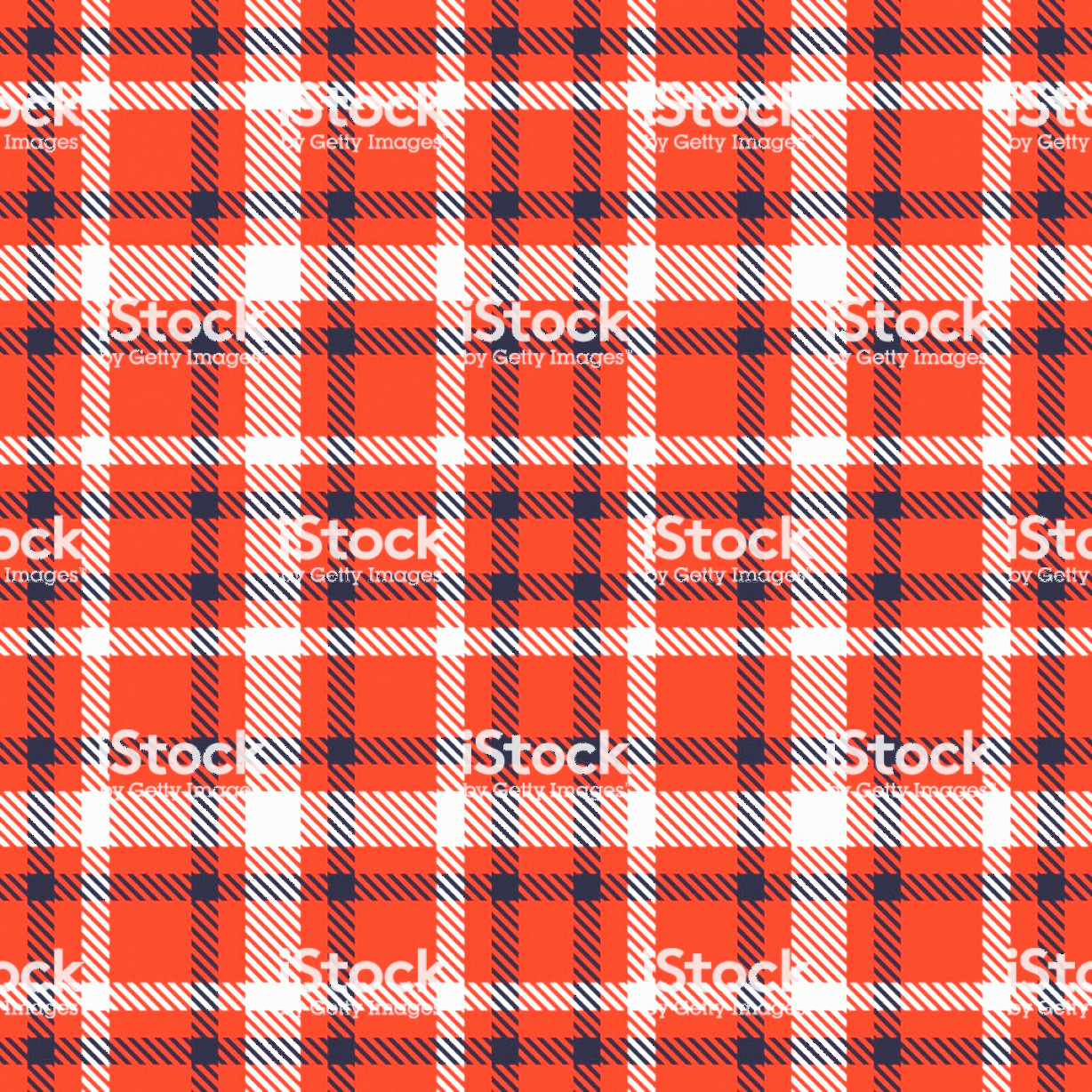Plaid Vector: Red Black And White Tartan Seamless Vector Pattern Checkered Plaid Texture Gm