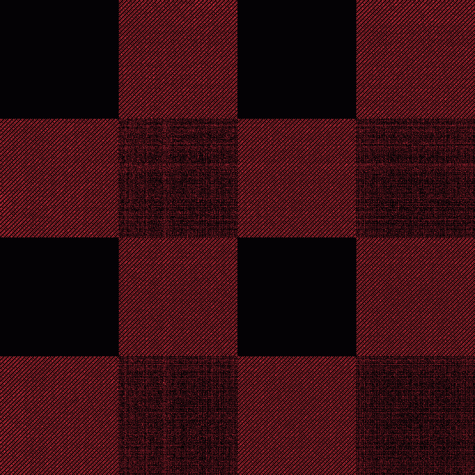 Plaid Vector: Red Black Buffalo Check Pattern Vector