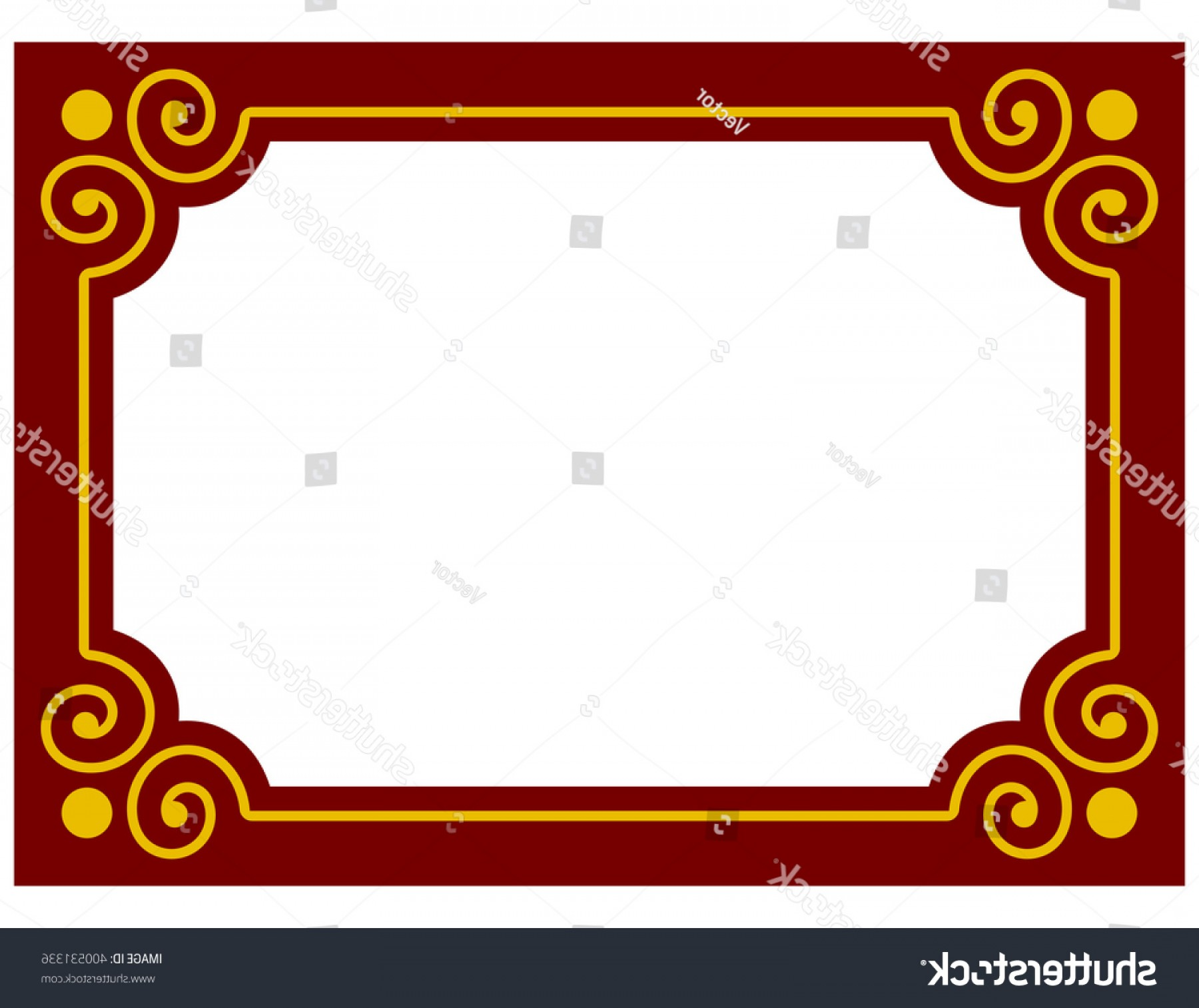 Simple Red Corner Vectors: Red Border Frame Deco Plaque Vector