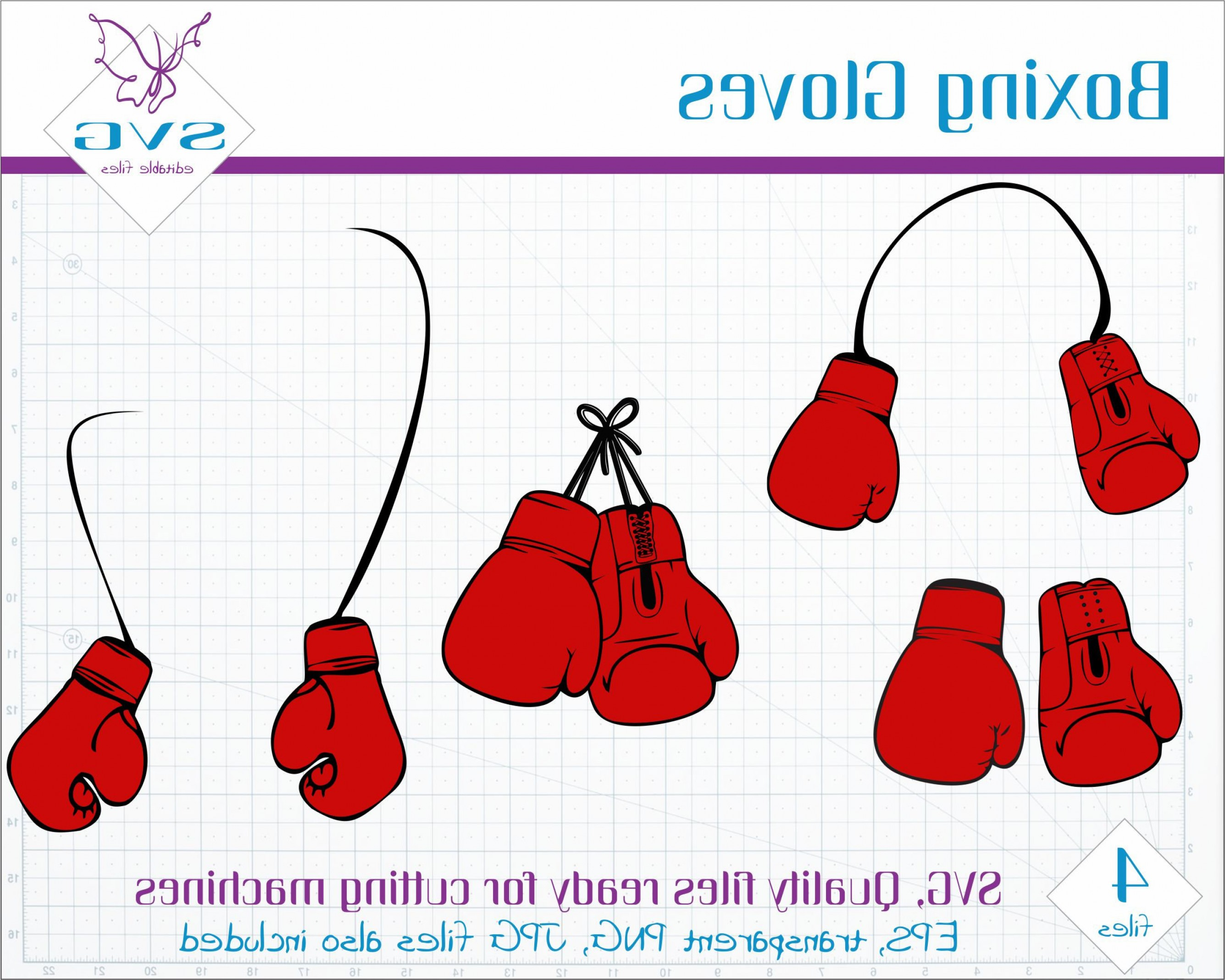 Pictures Of Boxing Gloves Vector Art: Red Boxing Gloves Svg Clipart Vector