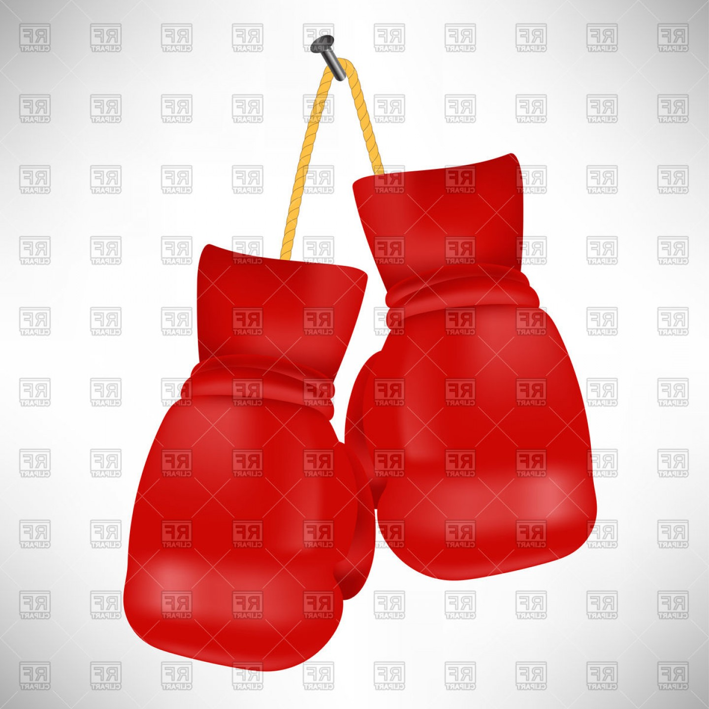 Boxing Gloves Vector Clip Art: Red Boxing Gloves Vector Clipart