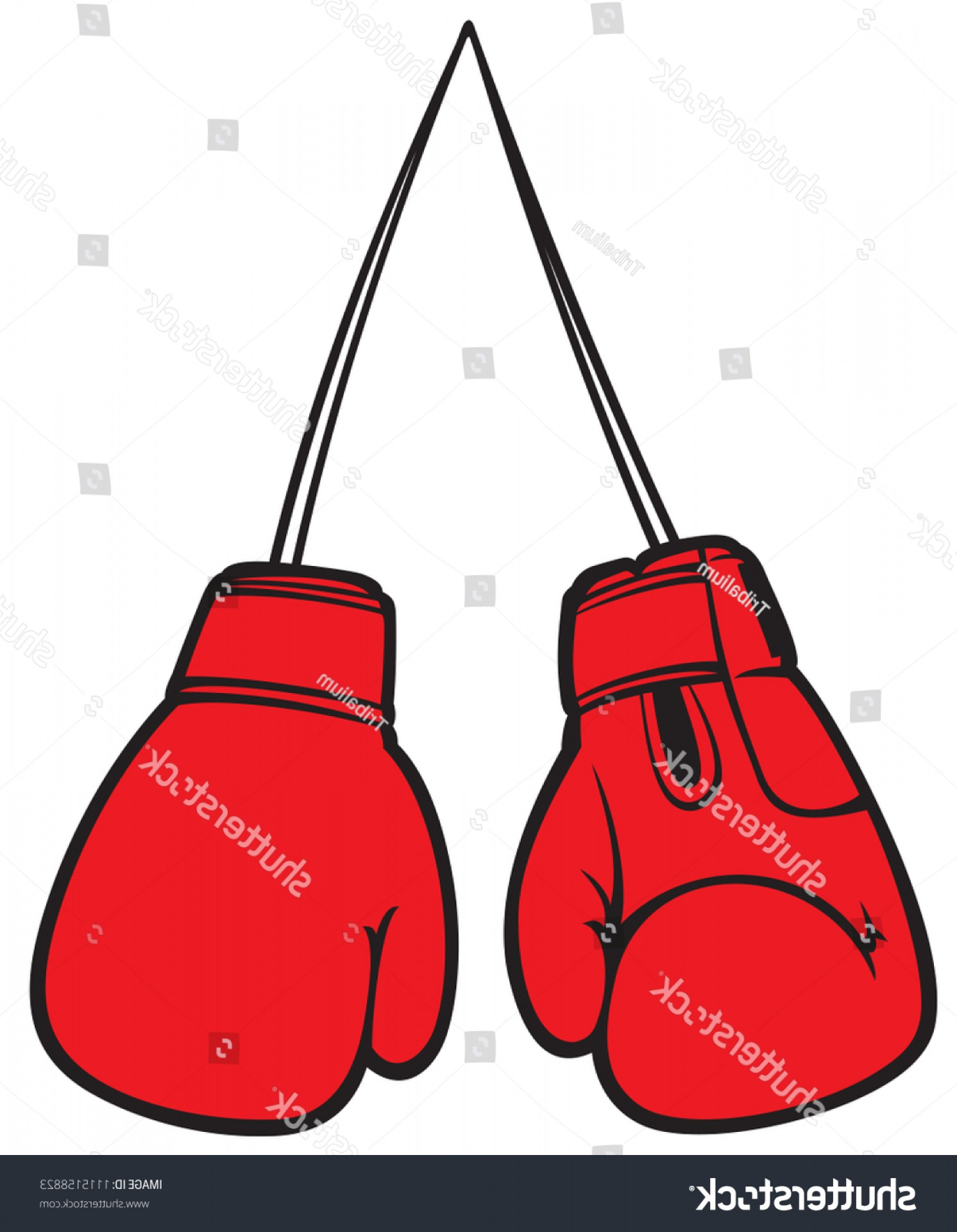 Pictures Of Boxing Gloves Vector Art: Red Boxing Gloves Vector Illustration