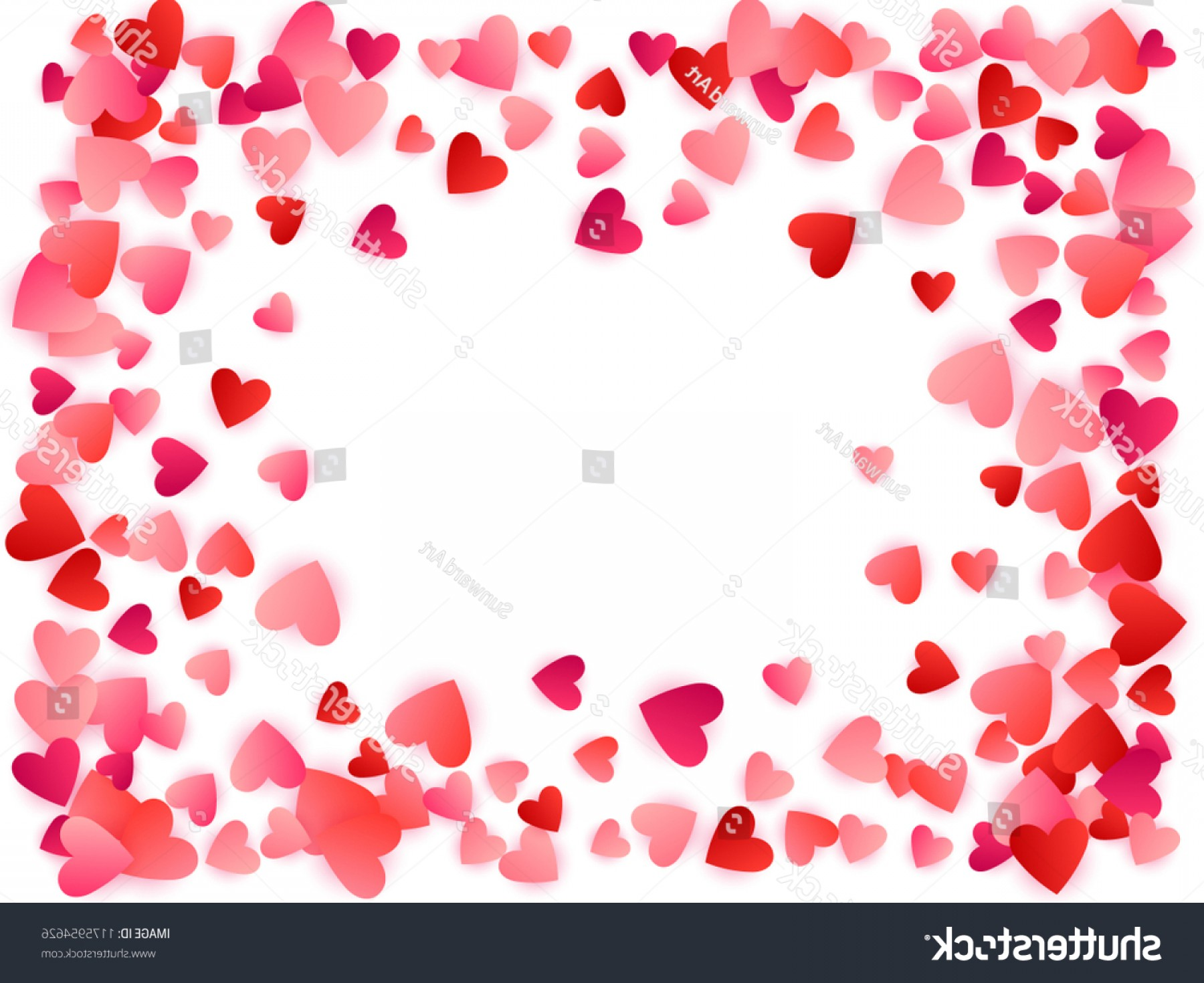 Cool Vector Hearts Pattern Symbol Pattern: Red Flying Hearts Bright Love Passion