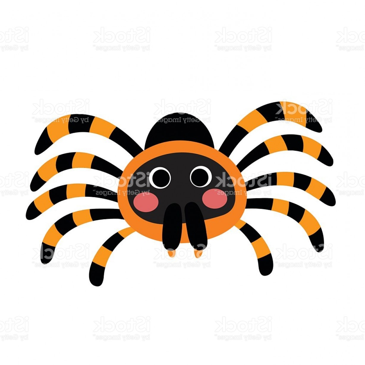 Knee Board Vector: Red Knee Tarantula Animal Cartoon Character Vector Illustration Gm