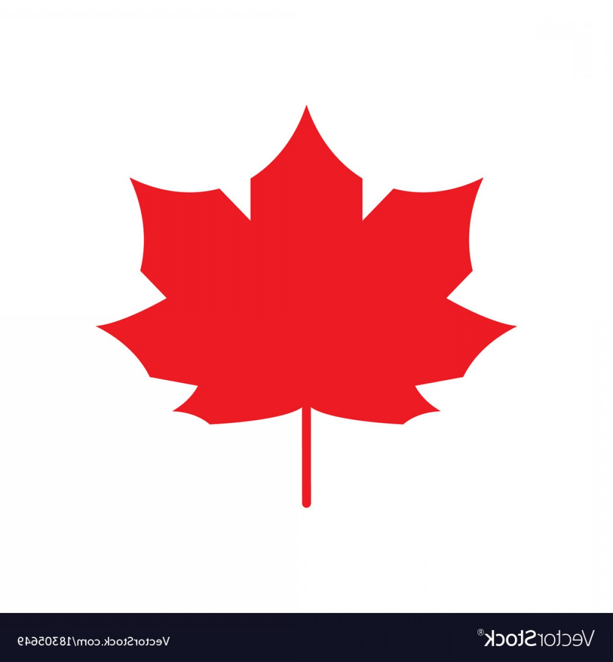 Red Maple Leaf Vector: Red Maple Leaf Icon Canada Symbol Autumn Leaves Vector