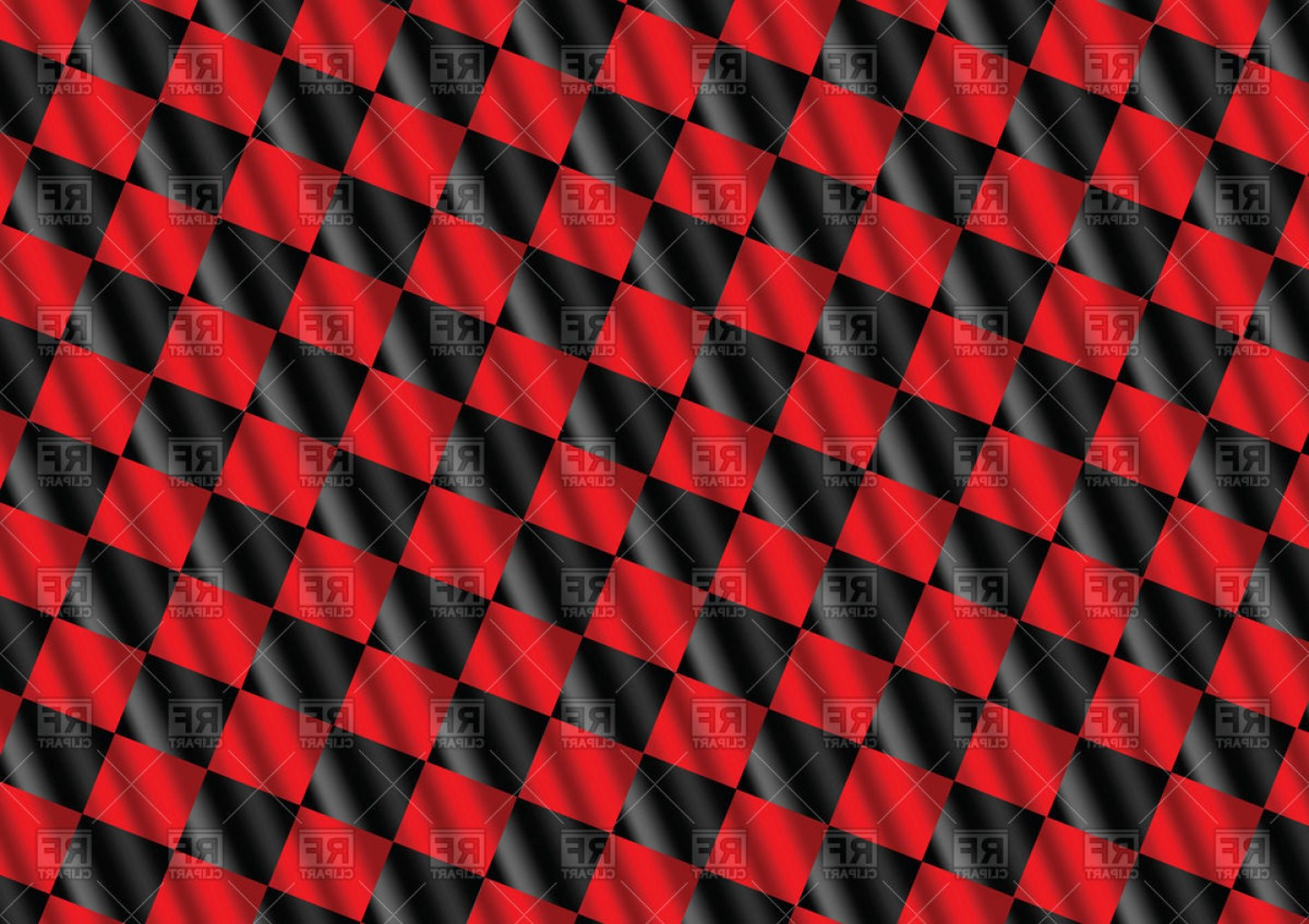 Checkered Flag Background Vector: Red Racing Checkered Flag Background Vector Clipart