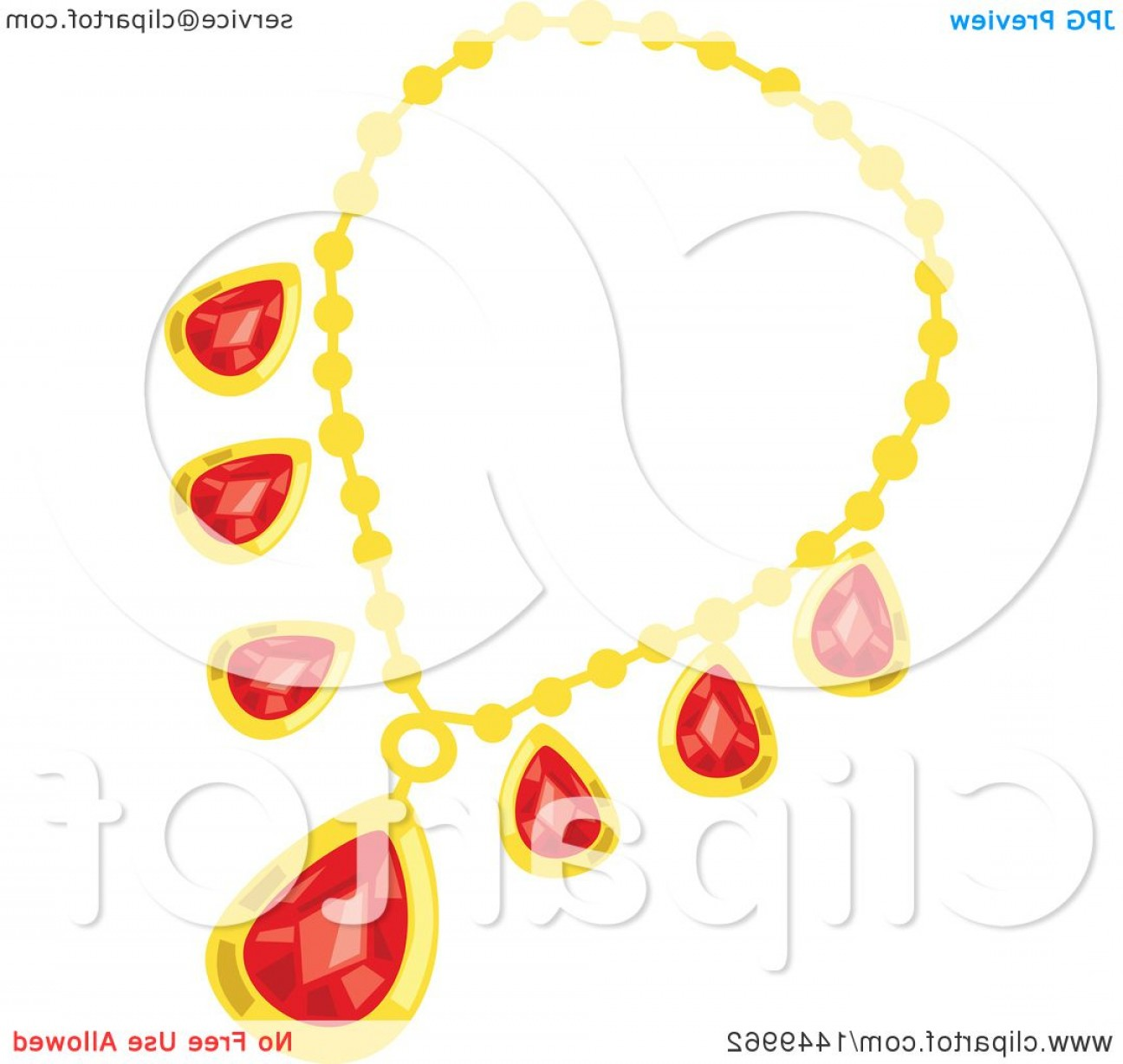 Ruby Royalty Free Vector Graphics: Red Ruby And Gold Necklace