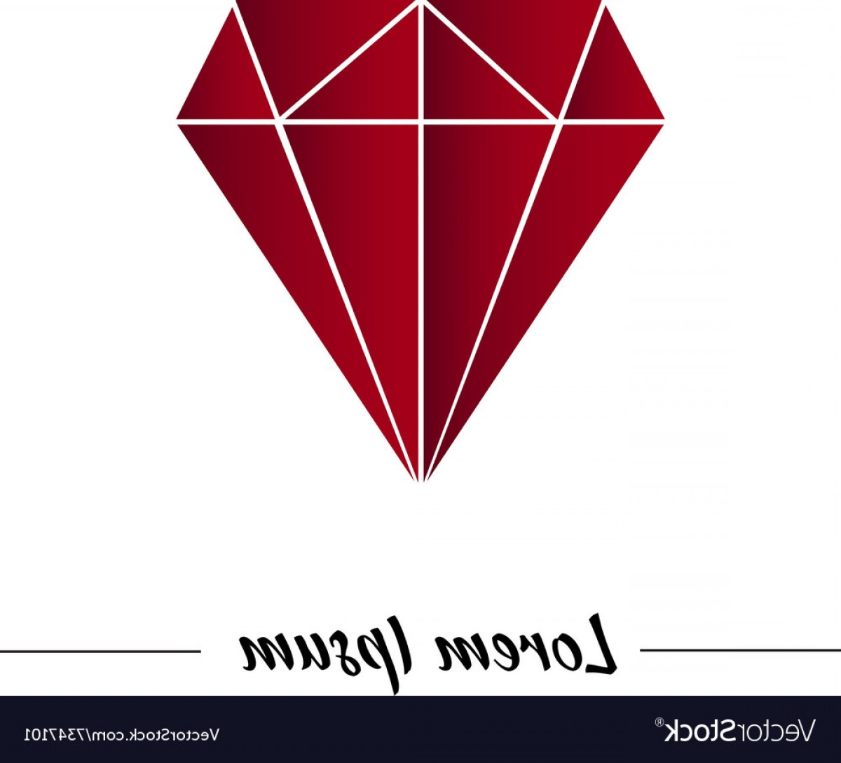 Ruby Royalty Free Vector Graphics: Red Ruby In Graphic Style Vector