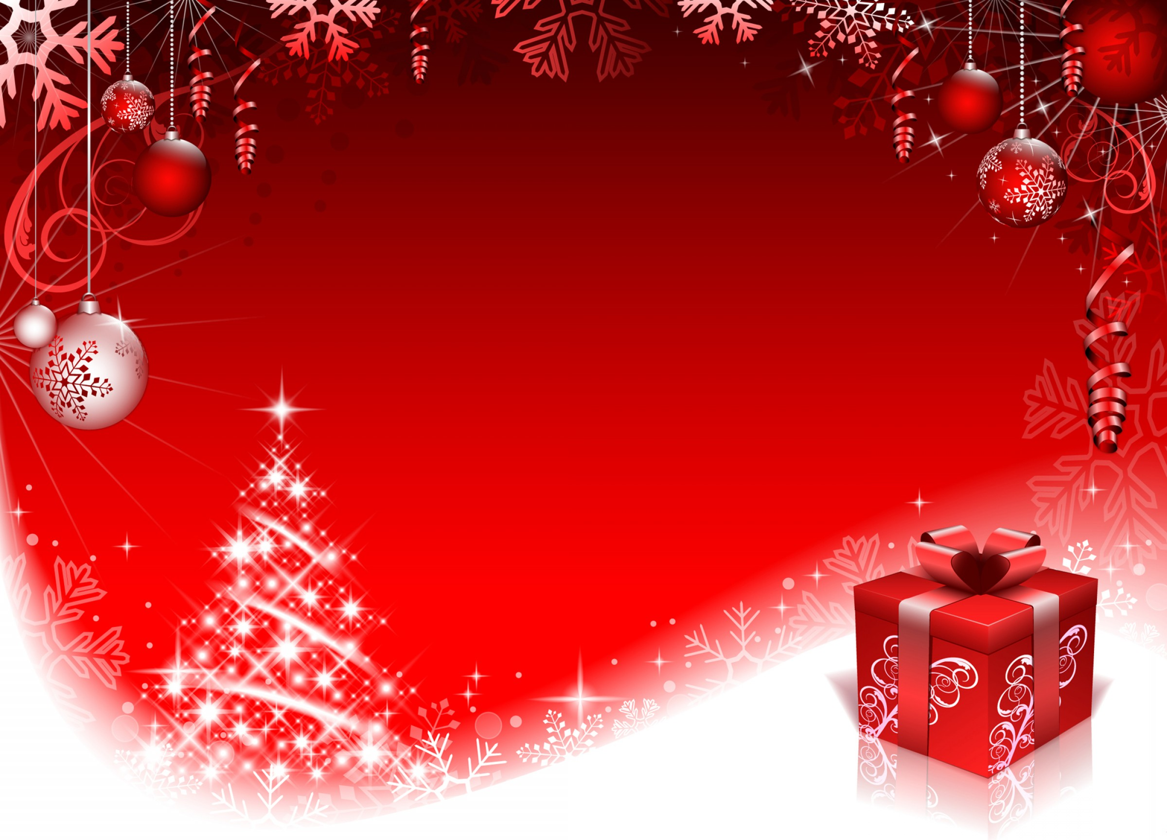 Abstract Vector Backgrounds For Photoshop: Red Style Christmas Background Art Vector