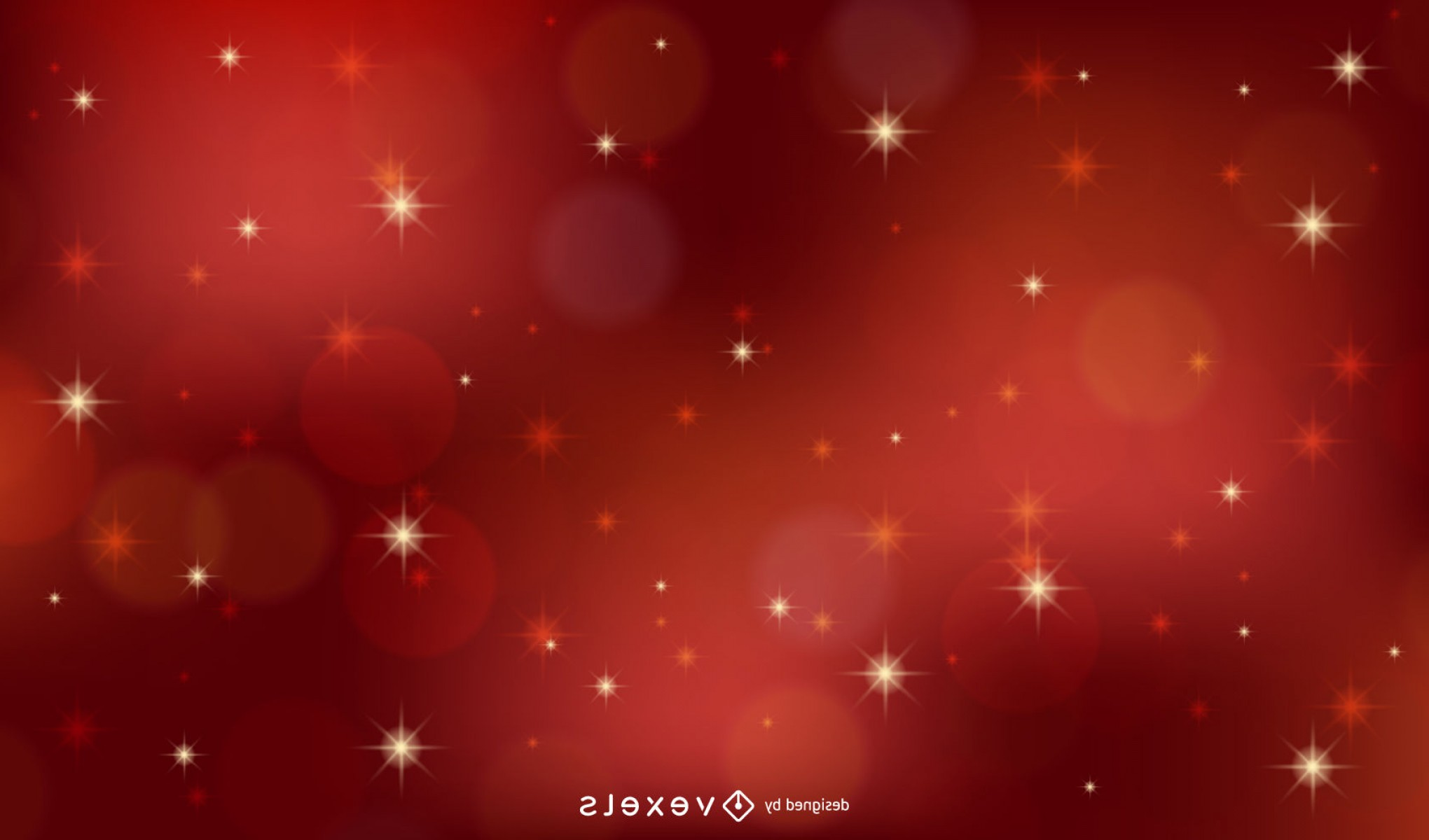 YouTube RedVector Real Life: Red Vector Xmas Background With Stars