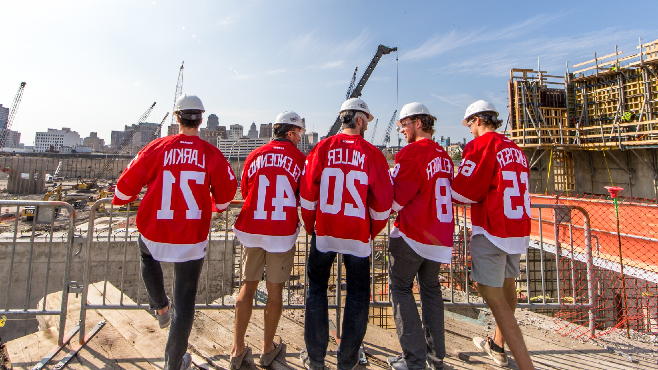 Detroit Red Wings Vector Art: Red Wings Visit Their New Home At Little Caesars Arena
