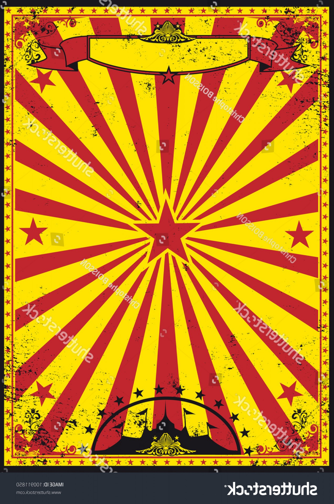 Circus Background Vector: Red Yellow Retro Circus Background Your