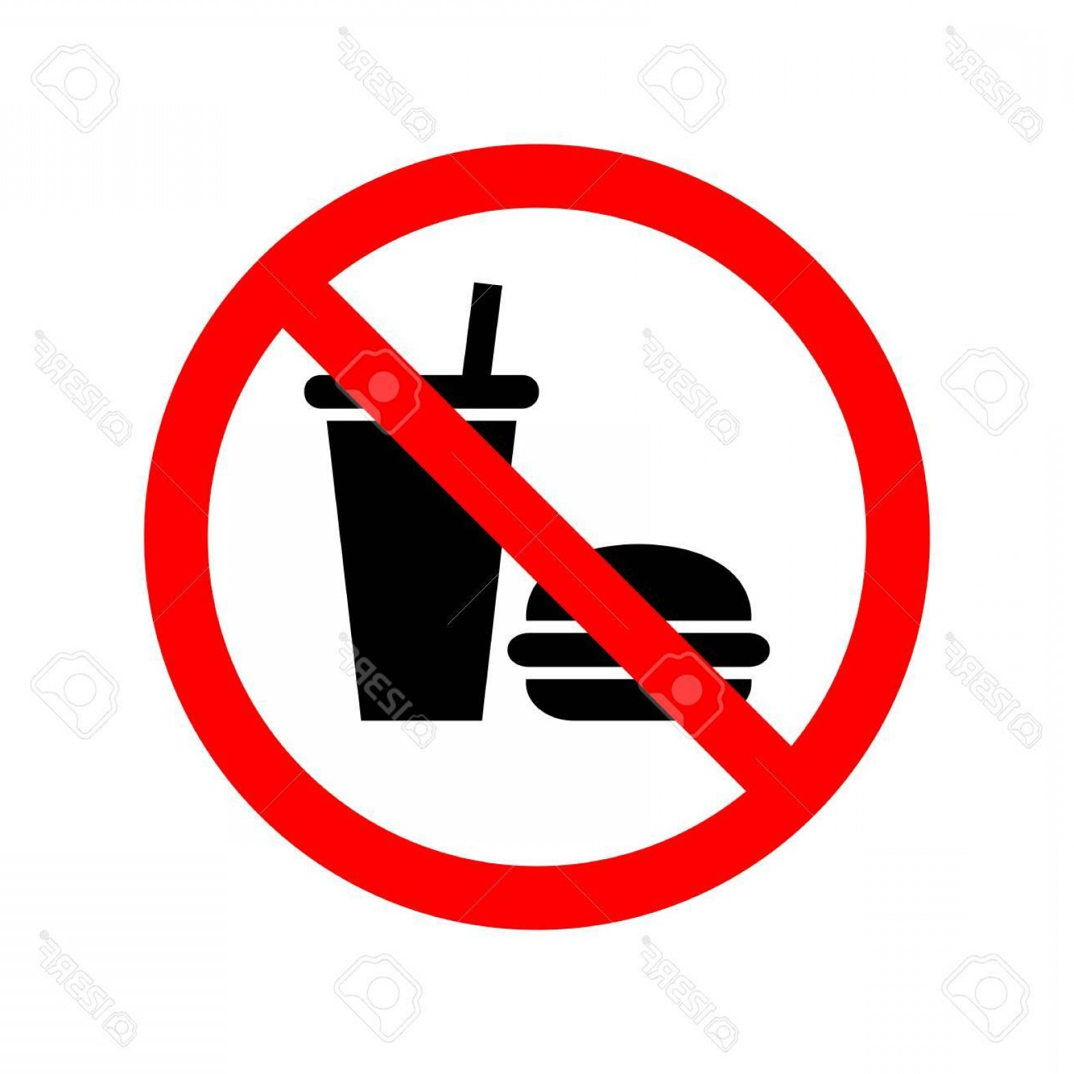 Amazon Icon Vector: Refundable No Food Or Drink Sign Drinks Allowed Royalty Free Cliparts Vectors And