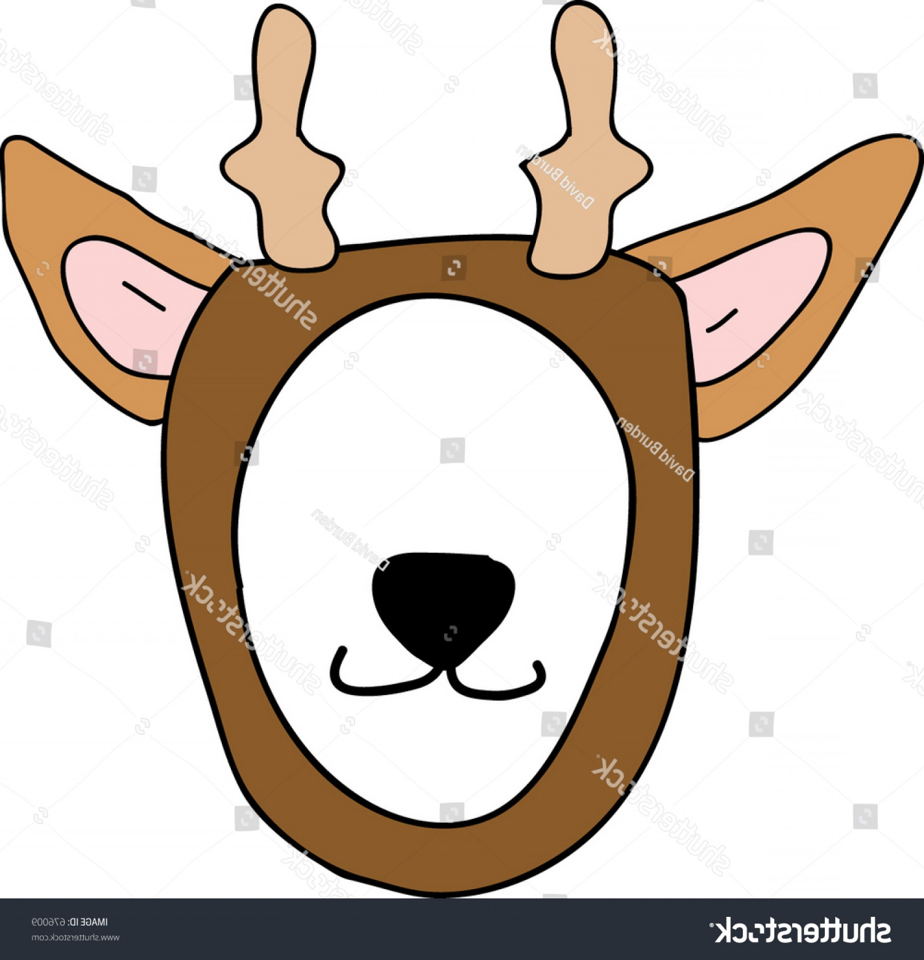 Mask Overlay Vector: Reindeer Mask Frame Overlay Photos
