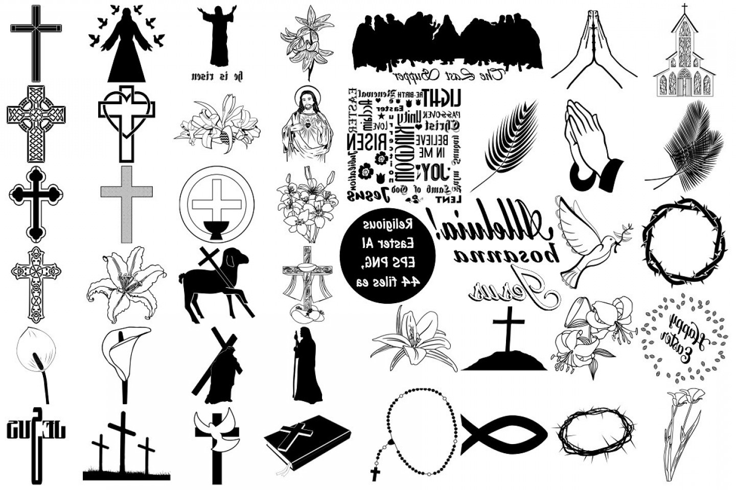Religious Easter Vector Files: Religious Easter Vector Ai Eps Png