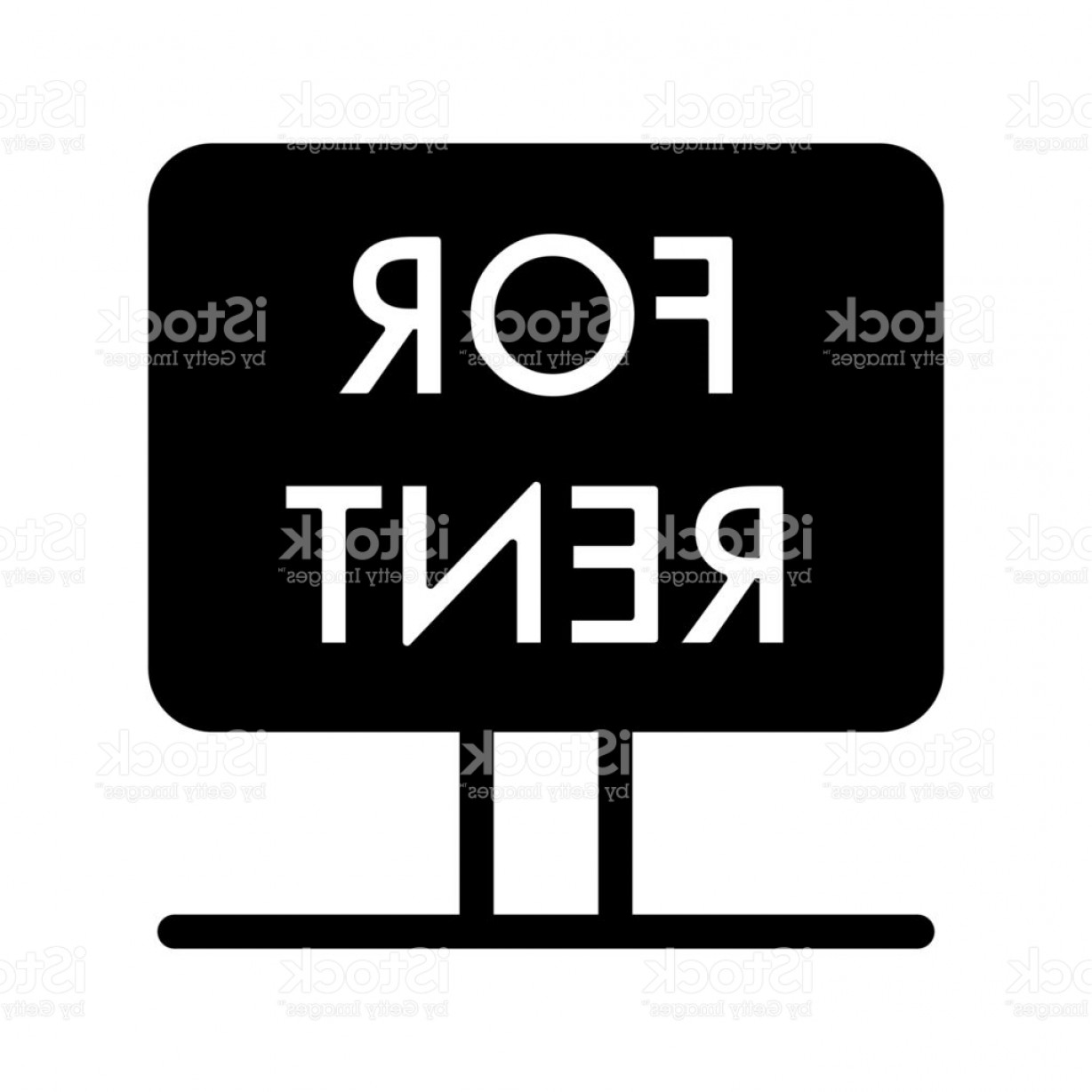 Nameplate Vector Graphics: Rent Symbol Simple Vector Icon Black And White Illustration Of Rent Nameplate Solid Gm