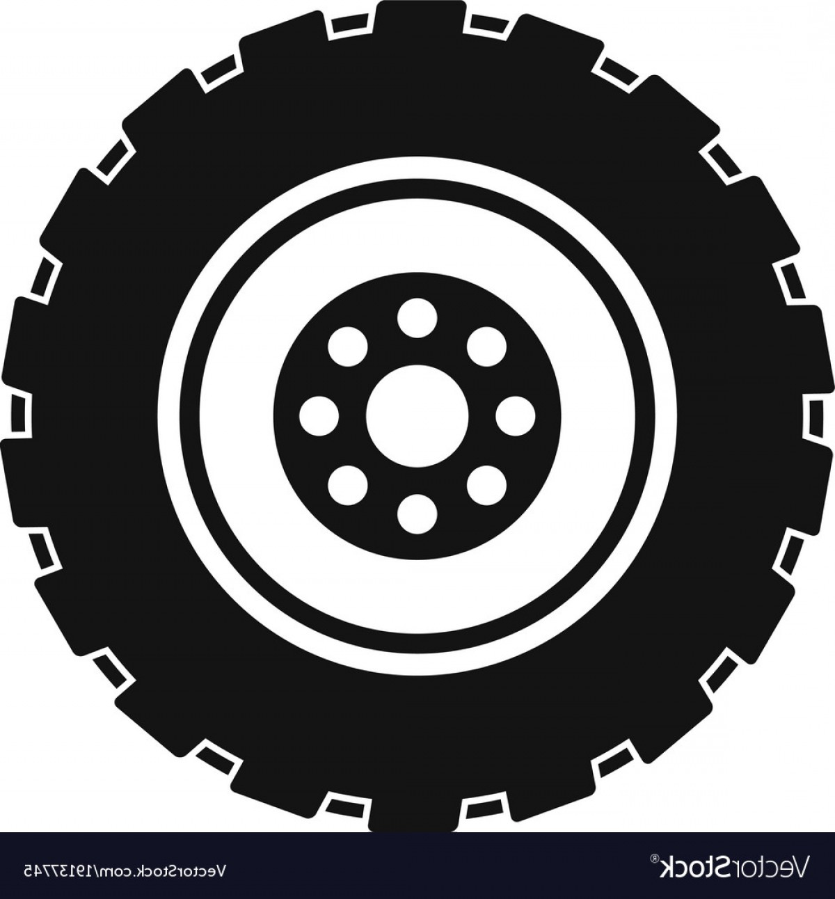Tire Icon Vector: Repairing Tire Icon Simple Style Vector