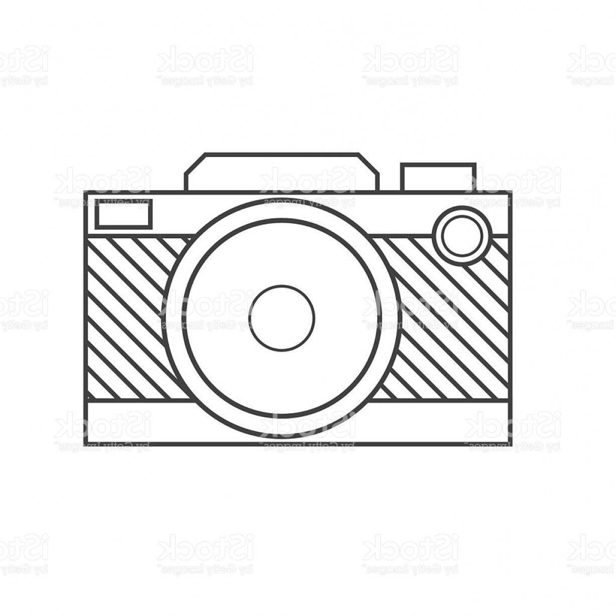 Camera Outline Vector Graphic: Retro Camera Vector Outline Icon Gm
