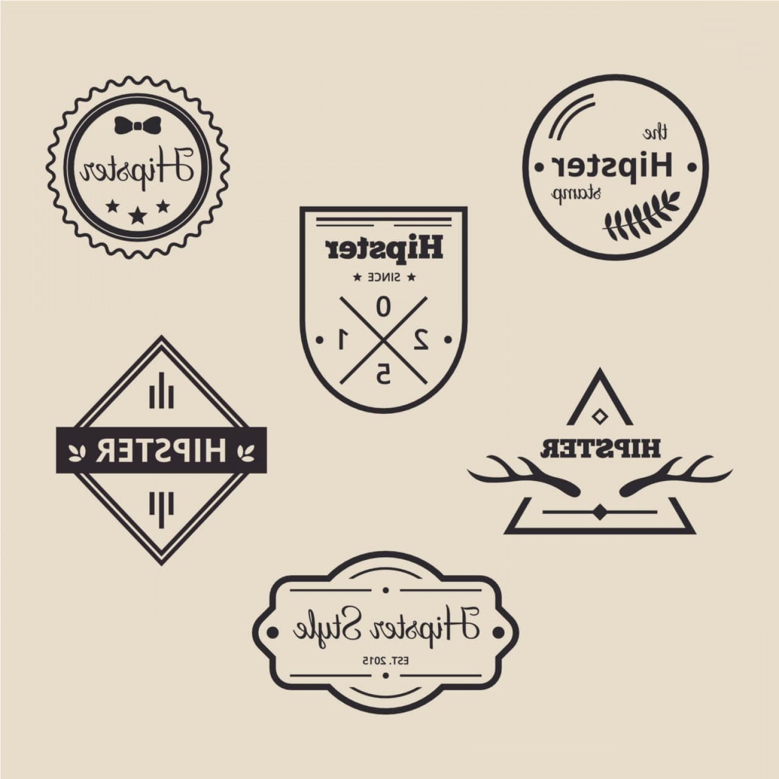 Hipster Logo Vectors Mountain: Retro Vintage Icons Or Logotypes Set Vector Design Elements Business Signs Logos Identity Labels Badges And Objects