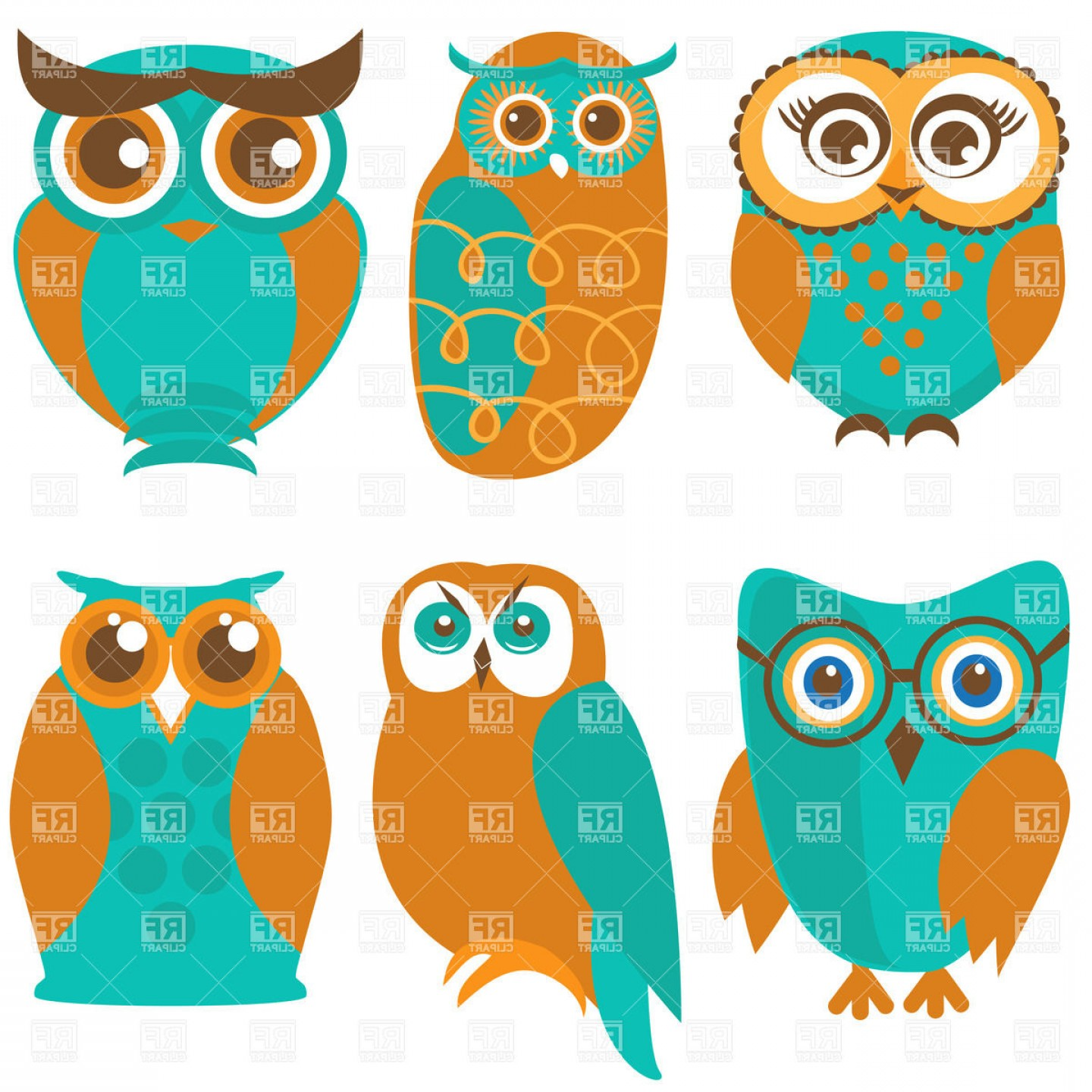 Vector Cartoon Free Clip Art: Revealing Pictures Of Owls To Download Ute Cartoon And Birds Royalty Free Vector Clip Art Image
