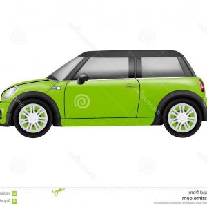 Mini Cooper Car Vector: Realistic Model Mini Car White Background Realistic Model Mini Car Isolated White Background Image