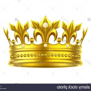 Vector Prince Crown Gold: Realistic Or D Golden Crown For King Or Queen Image