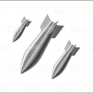 Vector X-15 Art: Realistic Stylized Air Bombs Fall Gm