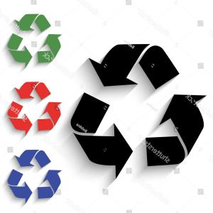 Recycle Icon Vector Red: Recycle Icon Black Colored Green Red