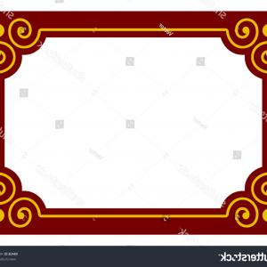 Simple Red Corner Vectors: Photostock Vector Border Frame Deco Plaque Vector Art Simple Line Corner