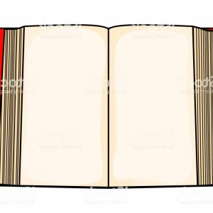 Cartoon Blank Open Book Vector: Red Cartoon Open Book Isolated On White Background Gm