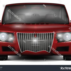 Vector Concept Car: Red Concept Car No Trademark Front
