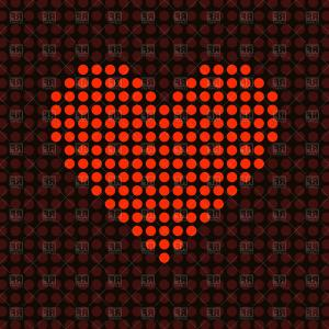 Cool Vector Hearts Pattern Symbol Pattern: Red Heart Made Of Dots Vector Clipart